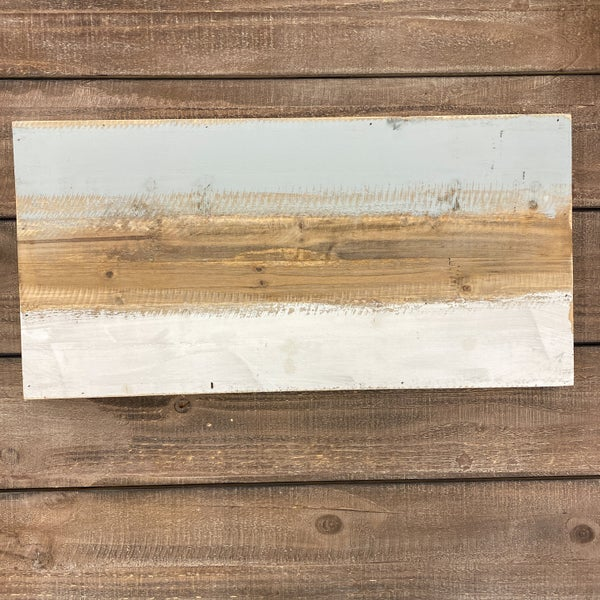 Rectangle Wood Pallet Board 10x20- Blue, White, and Natrual