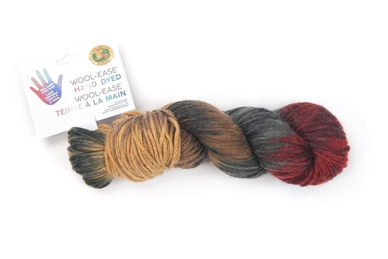 Lion Brand, Wool-Ease® Hand Dyed Yarn -Caramel Apple