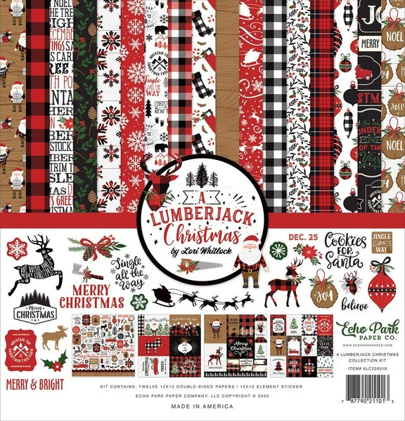 Echo Park- Lumberjack Christmas 12x12 Collection Paper Pack