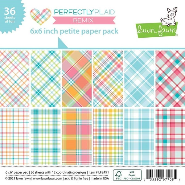 Lawn Fawn- Perfectly Plaid 6x6 inch Paper Pack