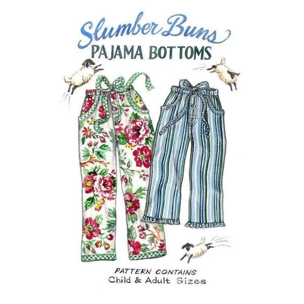 Slumber Buns Pajama Bottoms Pattern- Paisley Pincushions