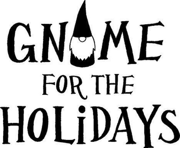 Rub On Vinyl- Gnome for the Holidays