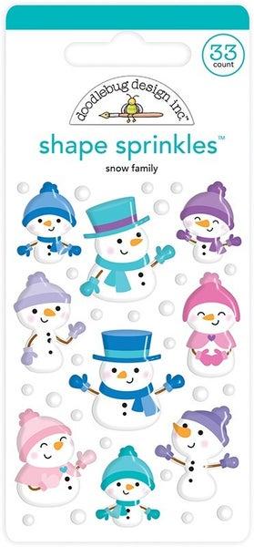 Doodlebug Design- Winter Wonderland Sprinkles Snow Family Shapes