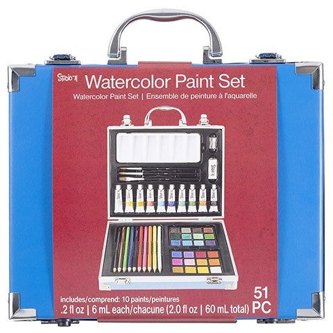 Studio 71 Watercolor Painting Art Set, 51 pieces