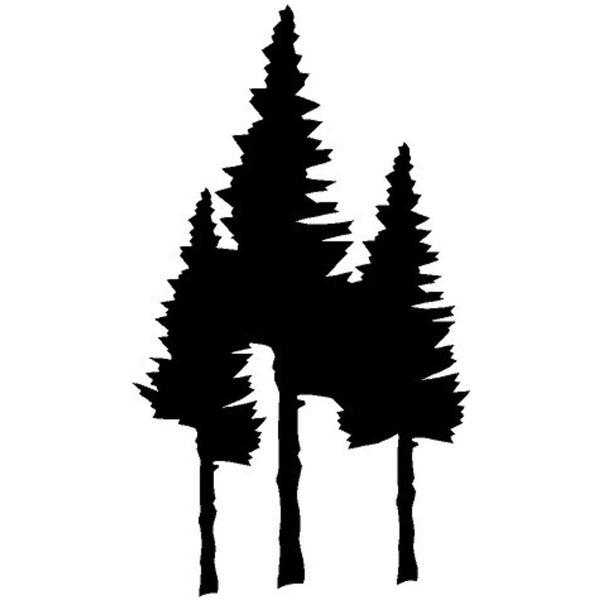 Rub-On Vinyl- Trees