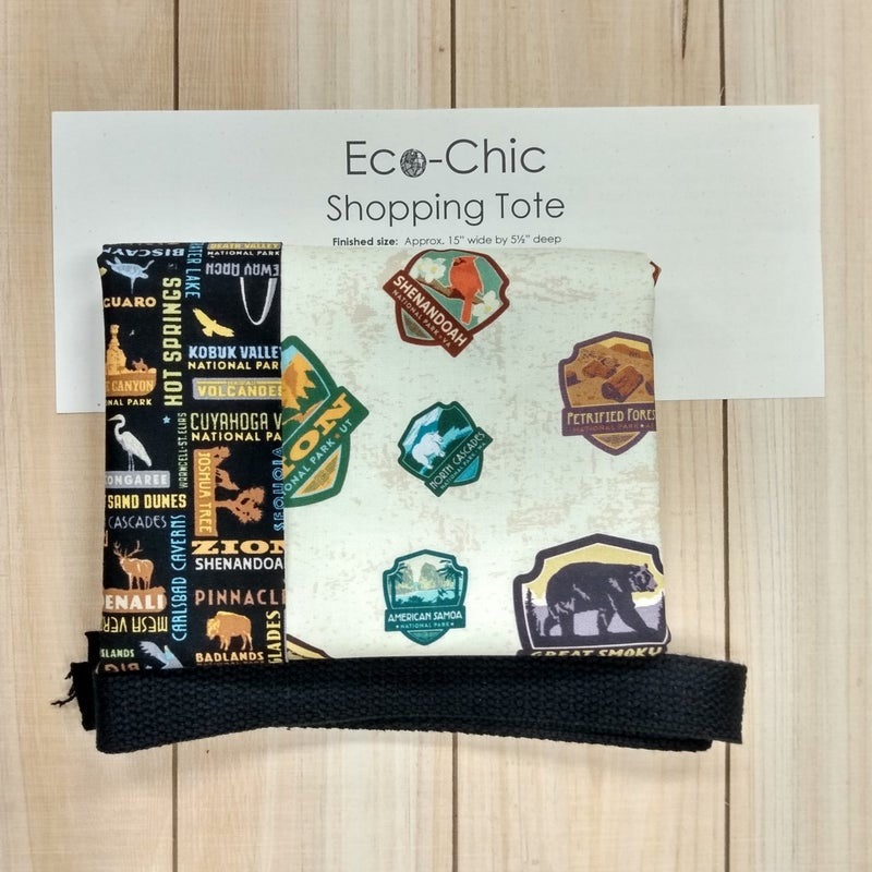 National Parks Eco-Chic Tote Kit, Badges and Block Text Version