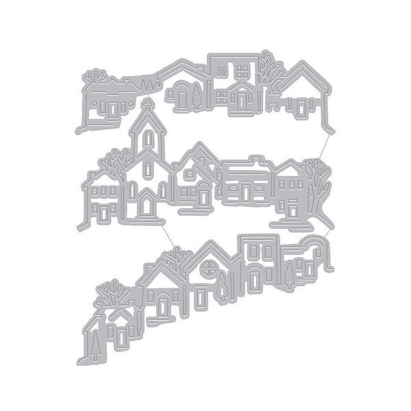 Tri-Fold Edge Village Fancy Die Cut by Hero Arts