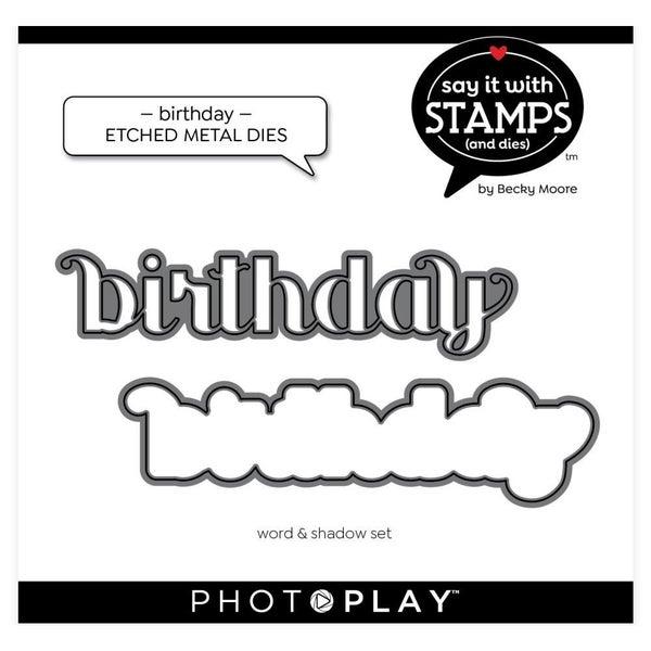 PhotoPlay- Birthday Die Set