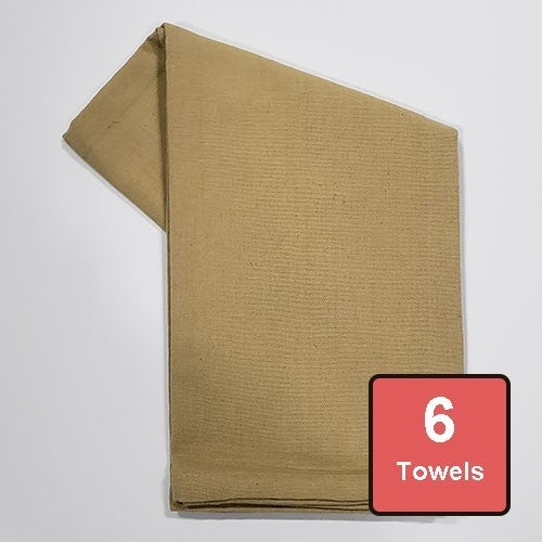 Taupe Cotton Tea Towels 6pc