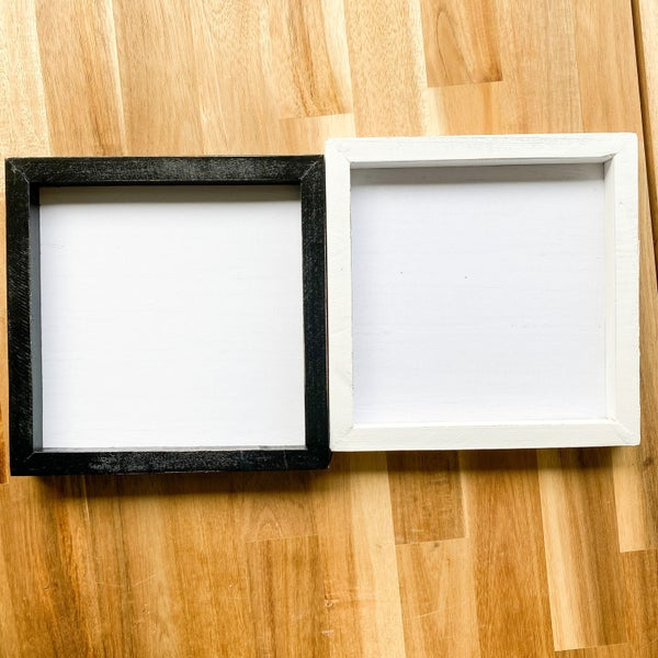 8X8 Framed White Plaque (Choose form two colors)