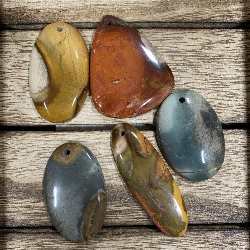 25 to 45 mm Top Drilled Gemstone Pendant (6 options)