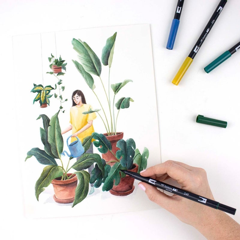 Tombow Dual Brush Pen Art Markers, Bohemian, 10-Pack