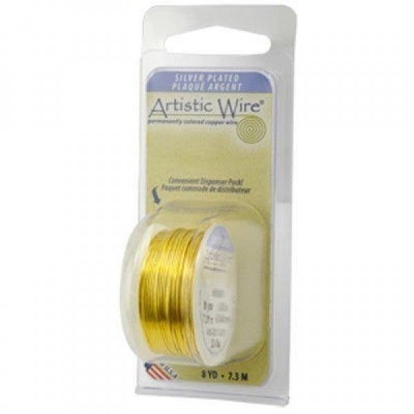 Artistic Wire- 26 Gauge Silver Plated, Lemon, 15 yd