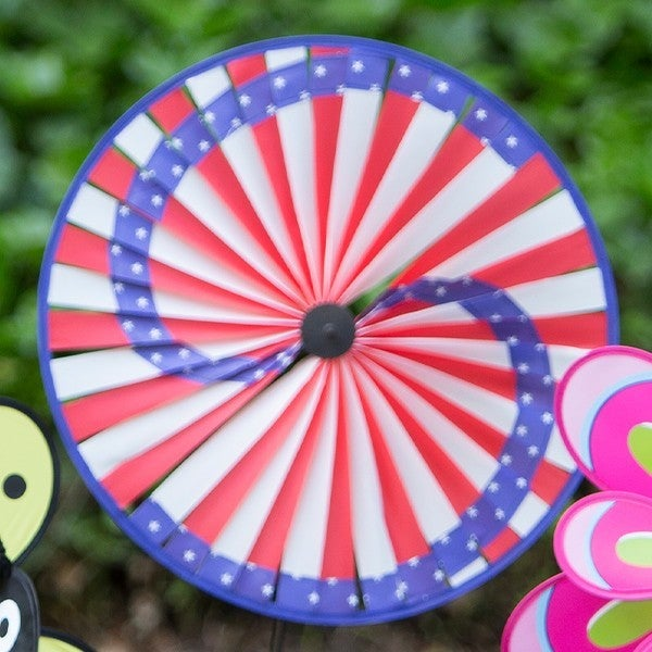 American Flag Pinwheel Wind Spinner