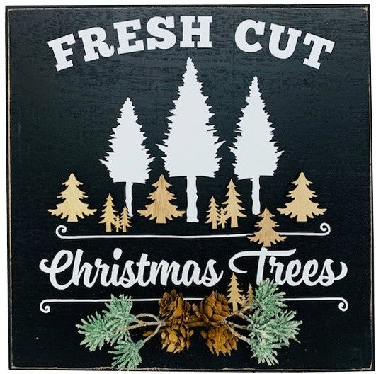 Fresh Cut Christmas Trees Wall Decor Project Box