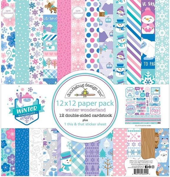 Doodlebug Design- Winter Wonderland 12x12 Collection Paper Pack
