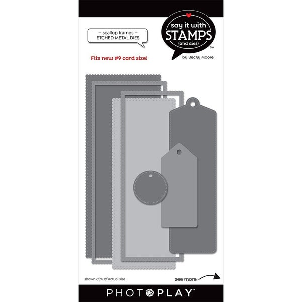 Say it with Stamps Die Set - #9 Scallop Tag Die Set