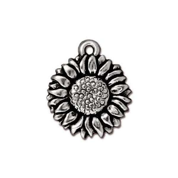 Tierra Cast- Sunflower Charm, Antiqued Silvers