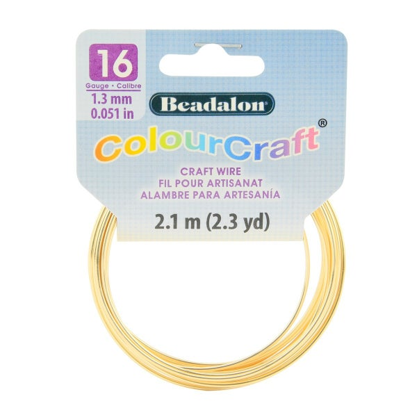 ColourCraft Wire- 16GA Gold Coil 2.3yd