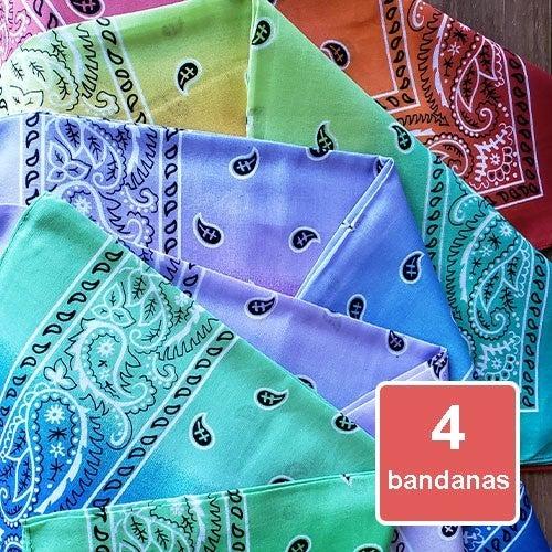 Bandanas - Tie Dye Ombre 4 Pack