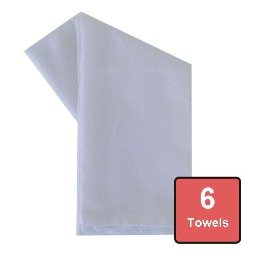 White Cotton Tea Towels 6pc