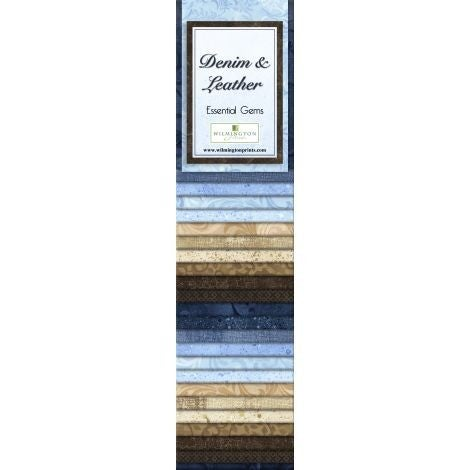 Quilting Strip Packs- Essential Gems, Denim and Leather