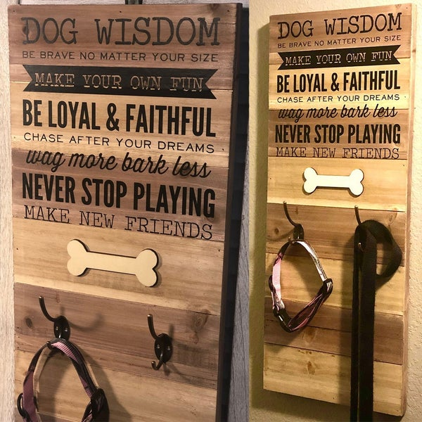 Dog Wisdom Pallet Board Wall Art