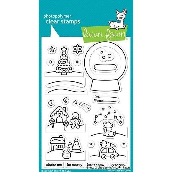 Snow Globe Scenes Clear Stamps- Lawn Fawn