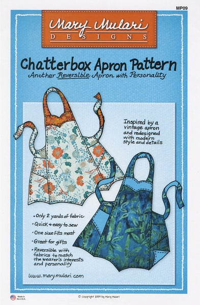 Chatterbox Apron Pattern- Mary's Productions