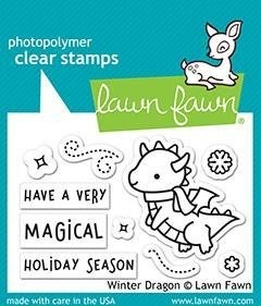 Winter Dragon Clear stamp