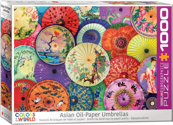 Asian Oil Paper Umbrellas 1000-Piece Puzzle