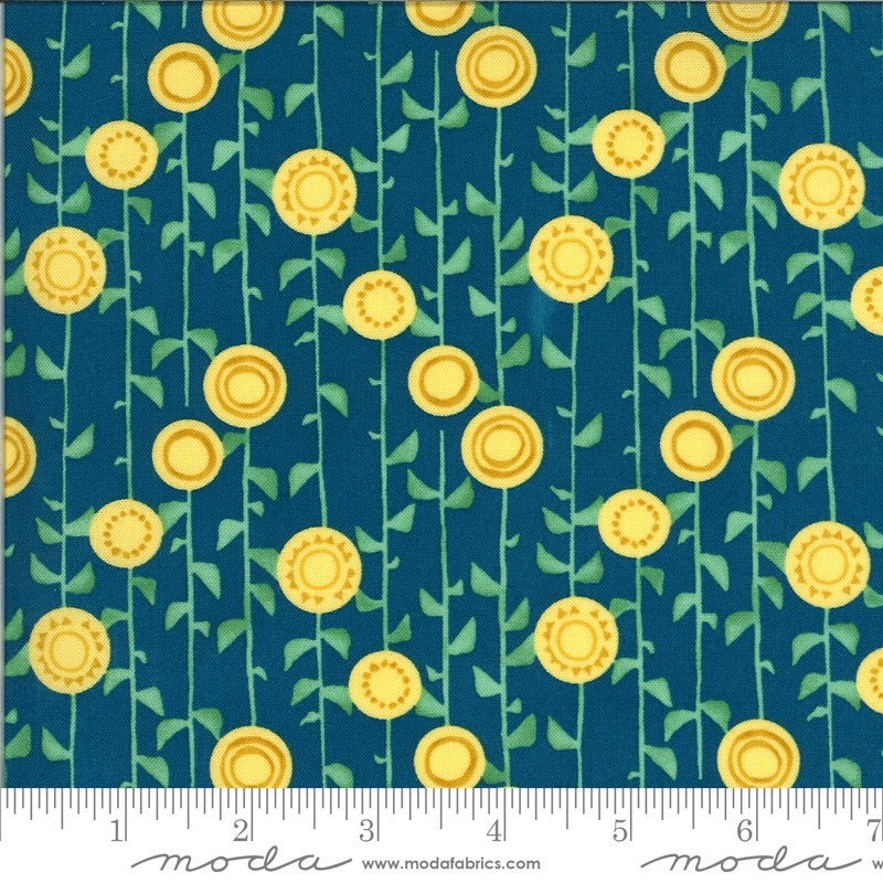 1 Yard Cut - Solana Collection Stalks Horizon - Designed by Robin Pickens for MODA Fabrics
