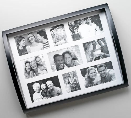 Photo Collage Tray with 9 Openings