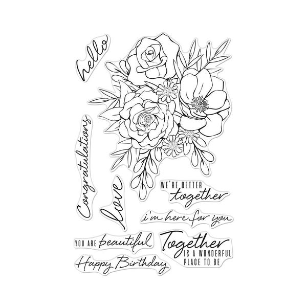 Hero Arts- Together Flower Bouquet Stamp