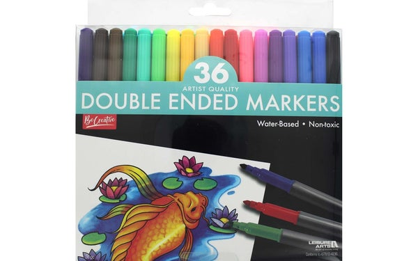 Double Ended Marker Set, 36 Markers