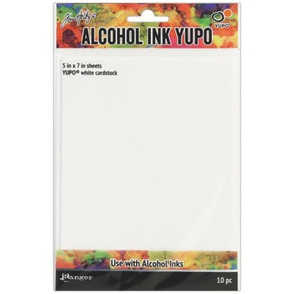 Tim Holtz - 10 pack Alcohol Ink Yupo Paper 5x7, white
