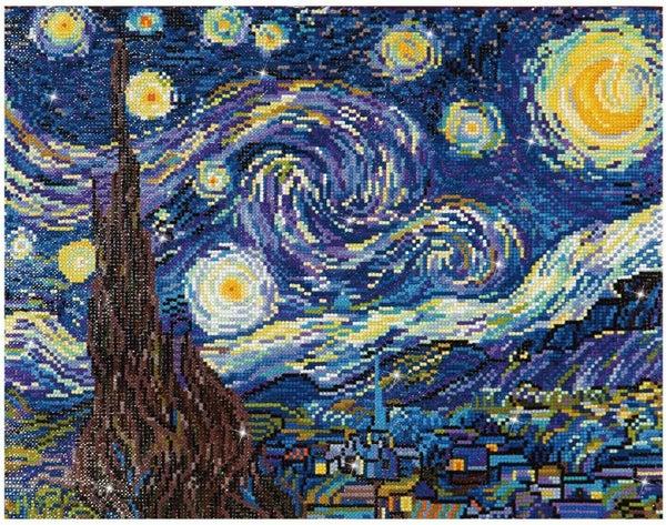 Diamond Dots, Starry Night Van Gogh