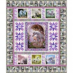 Unicorns Quilt Kit includes Pattern and Binding - Jason Yenter - In the Beginning Fabrics