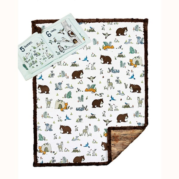 Critter Count Read to Me Cuddle Soft Book and Quilt Kit