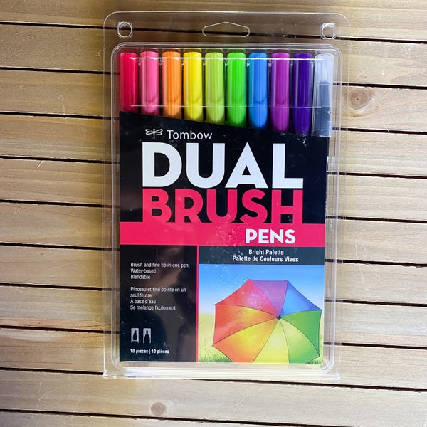 Tombow Dual Brush Pens, Bright Palette, 10 pcs