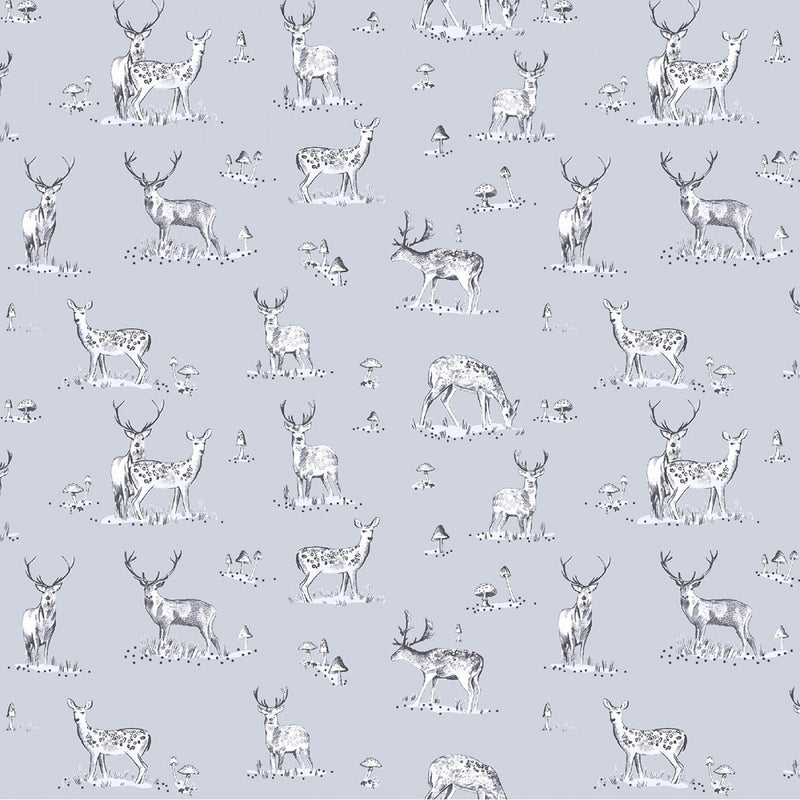 1 Yard Cut - Chop It Like It's Hot Stag Weekend Cadet Blue - Dear Stella Fabrics