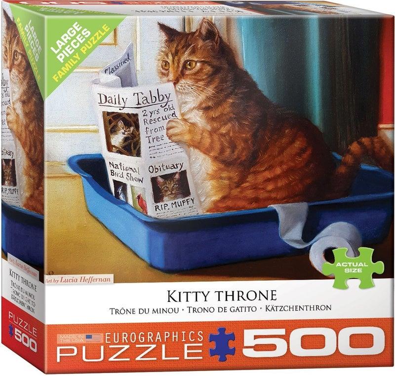 Kitty Throne by Lucia Heffernan 500-Piece Puzzle
