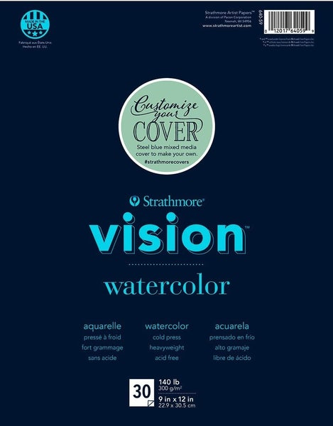 "Strathmore Vision Watercolor Artist Pad, 9"" x 12"""