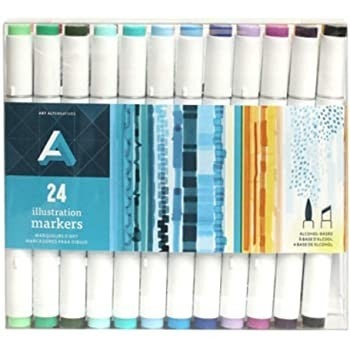 Alcohol Marker Set, 24 Colors