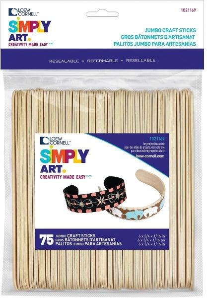 Jumbo Craft Sticks 75 ct