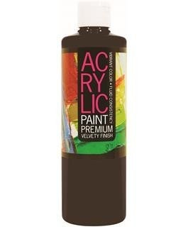 Student Acrylic Paint 16oz, Lamp Black