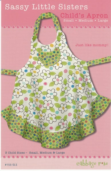 Sassy Little Sisters Apron Pattern- Cabbage Rose Designs