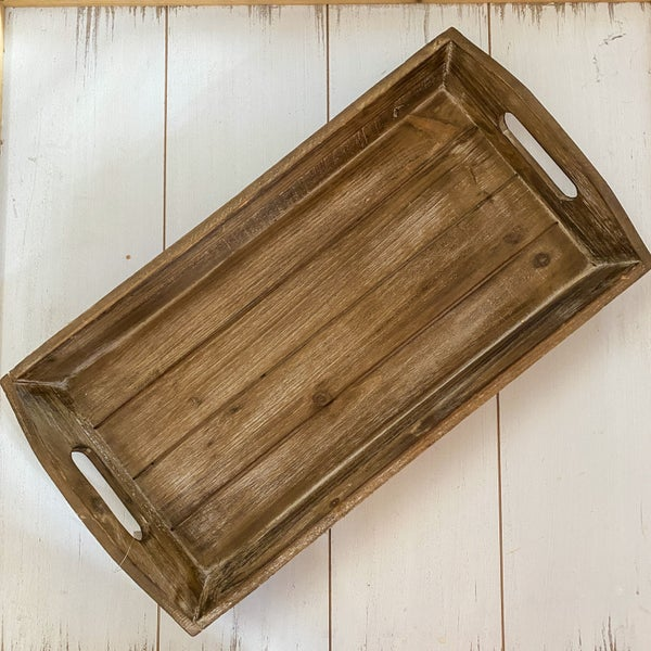 18x10 Dark Wood Tray