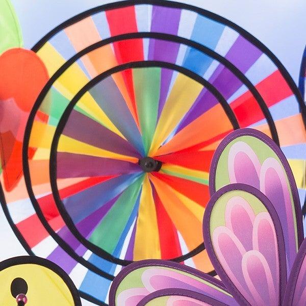 Rainbow Pinwheel Wind Spinner