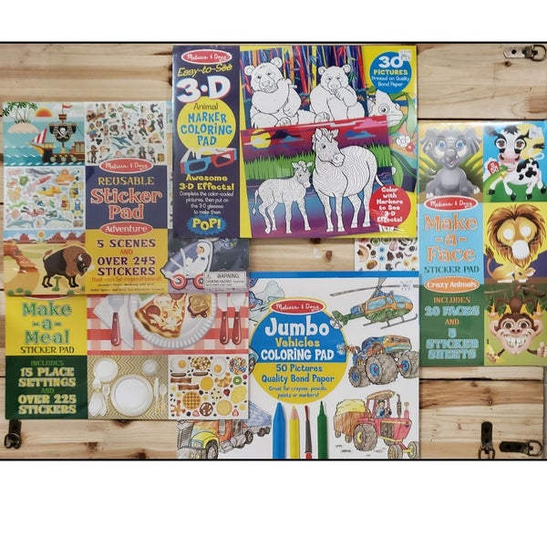 Melissa & Doug Activity Pads Mystery Bundle (5 assorted)